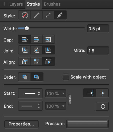 setting up Affinity Designer to cut sewing patterns in