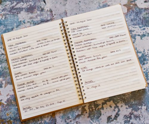 My notebook for natural dyeing