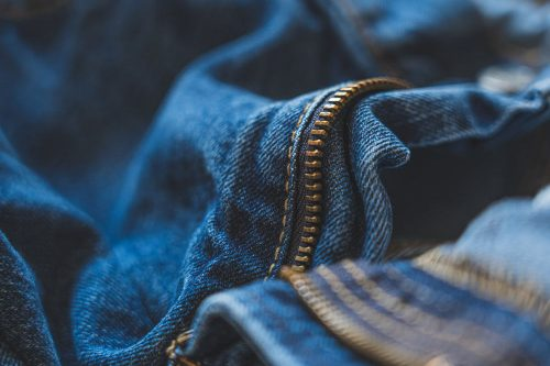 Sewing with zips is quite common, particularly jeans and trousers