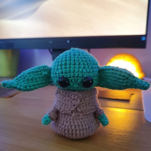 Swapping plastic safety eyes and polyester toy stuffing is an easy way to make toys and amigurumi more sustainably