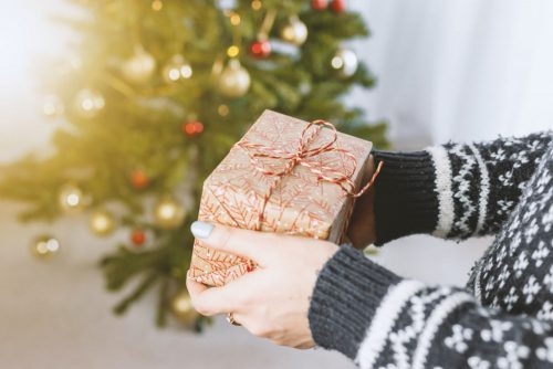 Christmas gifts bought on Small Business Saturday