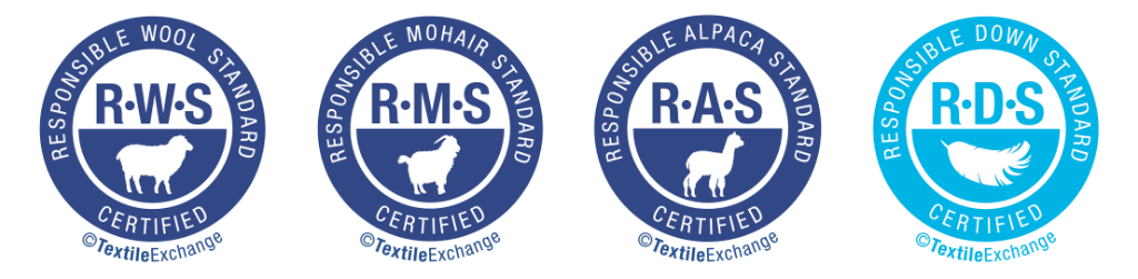 Responsible certifications like these show you that animal fibre yarns are eco-friendly