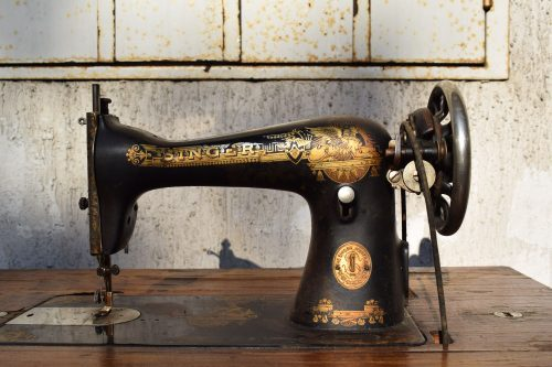 Sustainable clothing comes in many forms - vintage sewing machines like this Singer are used around the world to make garments, often uing little or no power in the process