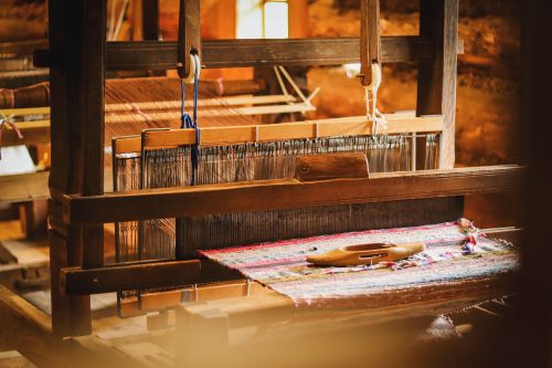 Handwoven cloth from India is often a wonderful fabric for making sustainable clothing from, especially when the community producing it is certified organic