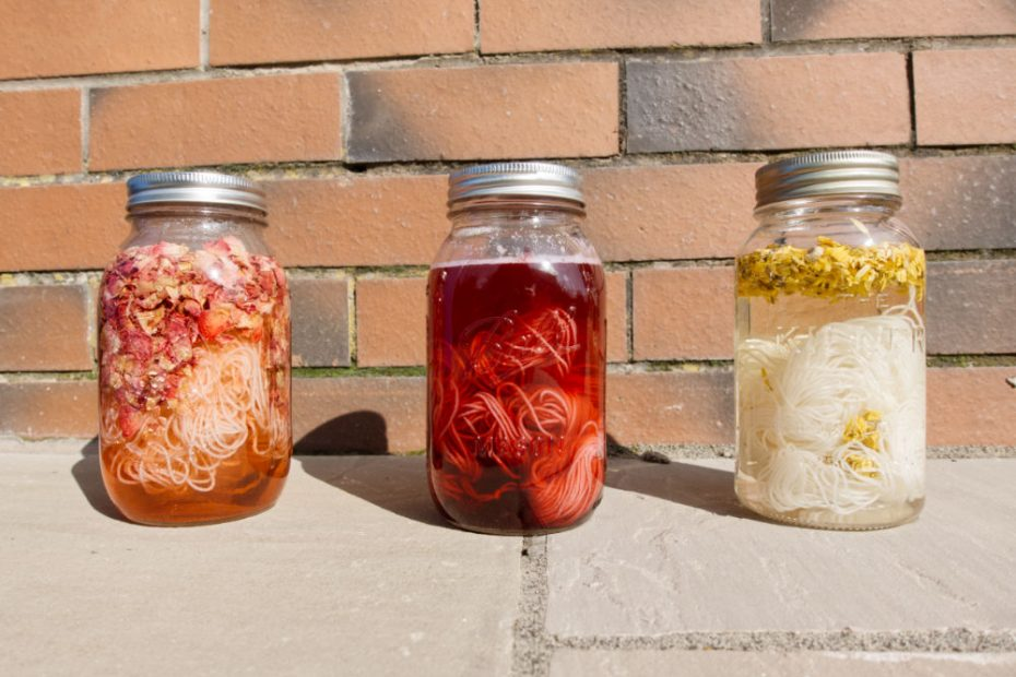 Solar dyeing doesn't require much - just a jar for you to dye in and a well lit area to leave it in